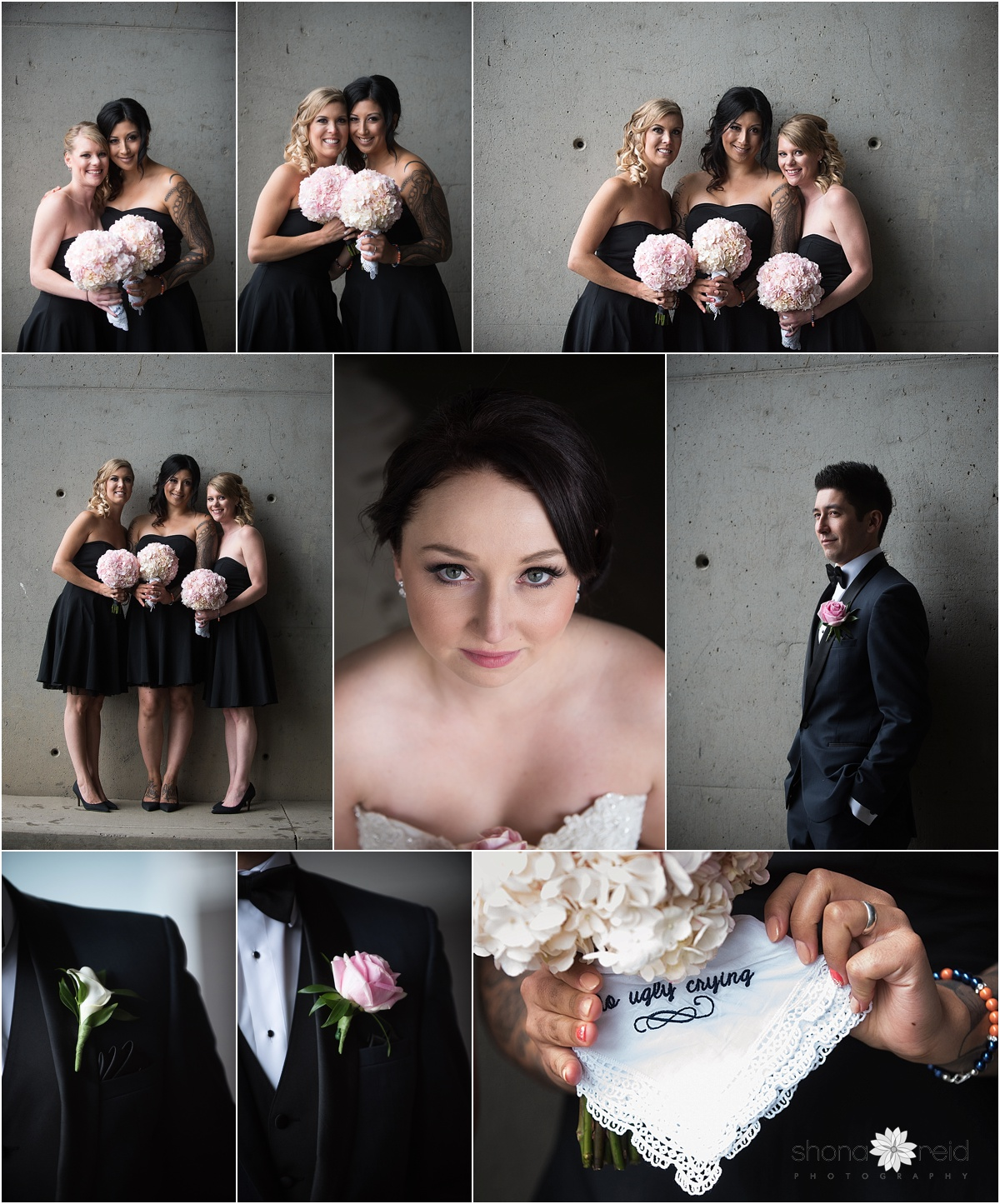 Bridal party wedding photographs Edmonton